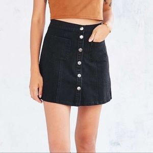 NWT Urban Outfitters Black Button Up Skirt